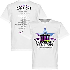 2015 Barcelona 5 Star Road To Victory Tee
