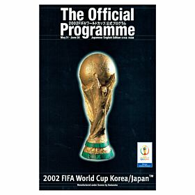 2002 World Cup Japan vs Korea Official Program - Engish/Japenese Edition