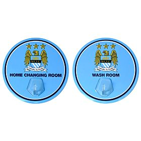 Manchester City Kit Hanger ( 9.5cm Diameter - 2 pack)