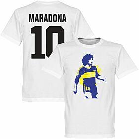 Boca Maradona No. 10 Tee - White