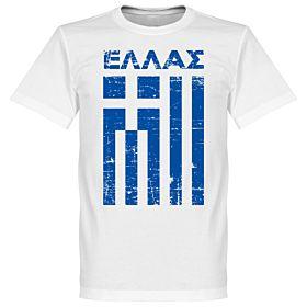 Greece Vintage Tee - White