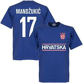 Croatia Mandzukic 17 Team Tee - Royal