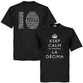 Keep Calm Ya Tenemos La Decima Tee - Black