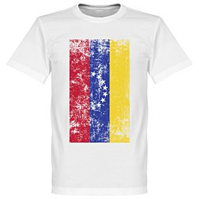 Venezuela Flag Tee - White