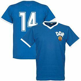 1974 DDR WC Home Retro Shirt + No. 14