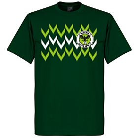 Nigeria 2018 Pattern Tee - Bottle Green