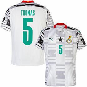 20-21 Ghana Home Shirt + Thomas 5 (Official Printing)