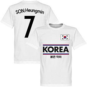 Korea Son 7 Team Tee - White