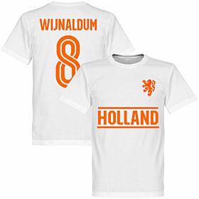 Holland Wijnaldum Team Tee - White