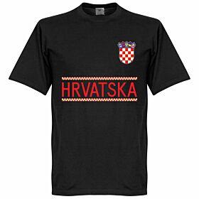 Croatia Team Tee - Black