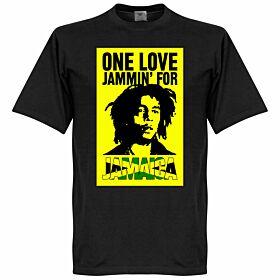 Bob Marley One Love Jammin For Jamaica Tee - Black