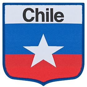 Chile Embroidery Patch 9cm x 9cm