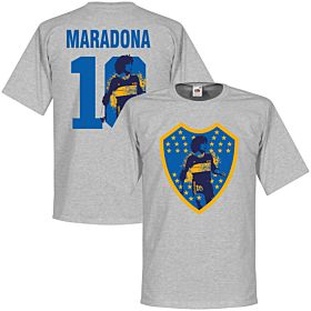Maradona 10 Boca Crest Tee - Grey