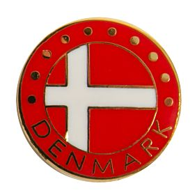 Denmark Enamel Pin Badge