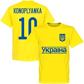 Ukraine Konoplianka 10 2020 Team T-Shirt - Yellow
