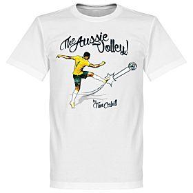 Tim Cahill The Aussie Volley Tee - White