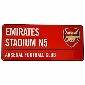 Arsenal Color Street Sign - 40cm x 18cm