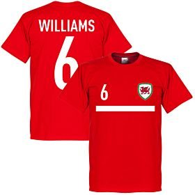 Wales Williams 6 Banner Tee - Red