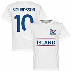 Island Sigurdsson 10 Team Tee - White
