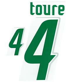 Toure 4 - 06-07 Ivory Coast Away Official Name and Number