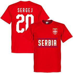 Serbia Sergej 20 Team Tee - Red