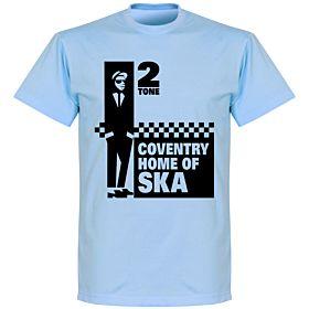 Coventry Home of 2 Tone Ska T-shirt - Sky Blue