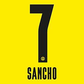Sancho 7 - 20-21 Borussia Dortmund Home (Official Printing)