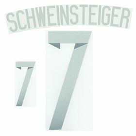 Schweinsteiger 7 14-15 Germany Away Official Name & No. Set