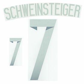 Schweinsteiger 7 14-15 Germany Away Official Name & No. Set