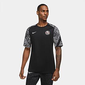 20-21 Club America Breathe Pre Match Training Shirt - Black