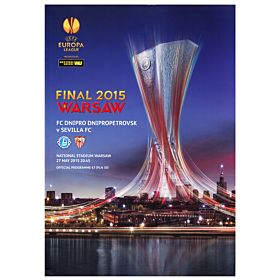 2015 UEFA Europa League Final Program