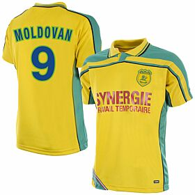 Copa FC Nantes Retro Shirt 2000-2001 + Moldovan 9 (Fan Style)