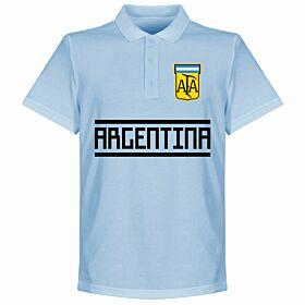 Argentina Team Polo Shirt - Sky
