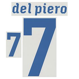 Del Piero 7 - 2010 Italy Away Official Name & Number