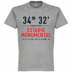 River Plate Home Coordinates Tee - Grey