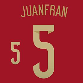 Juanfran 5 - Spain Home Official Name & Number 2014 / 2015