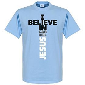 I Believe in Gabriel Jesus Tee - Sky