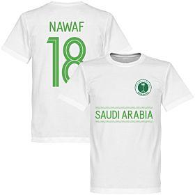 Saudi Arabia Nawaf 18 Team Tee - White