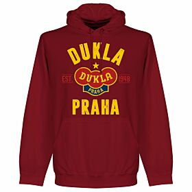 Dukla Praha Established Hoodie - Maroon