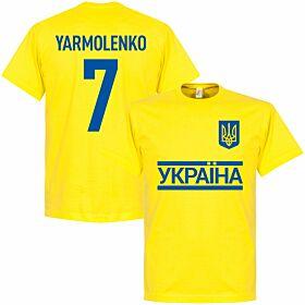 Ukraine Team Yarmolenko Tee - Yellow