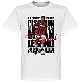 Franco Baresi Legend Tee - White
