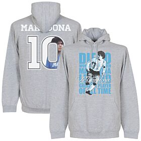 Maradona Legend Hoodie - Grey