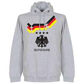 1990 Germany 4 Star Retro Hoodie - Grey