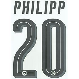 Phillipp 20 - Borussia Dortmund Home Official Name & Number 2017 / 2018