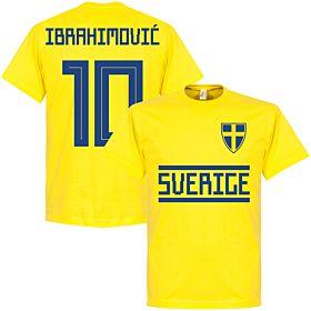 Sweden Ibrahimovic 10 Team Tee - Yellow