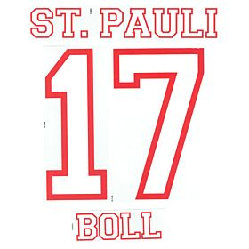 Boll 17 - 12-13 St Pauli Home Official Name & Number