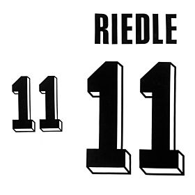Riedle 11 - 1992 Germany Home Authentic Flock Printing