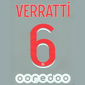 Verratti 6 - 20-21 PSG Home (Official Printing)