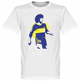 Boca Maradona Tee - White
