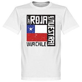 Chile Le Roja Es Nuestra Tee - White